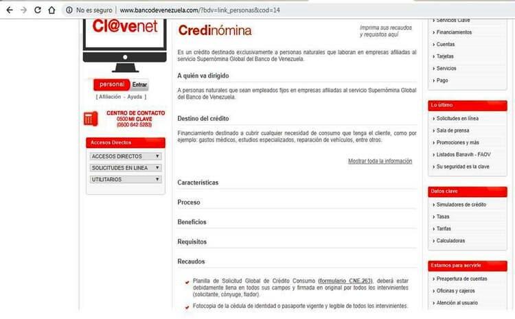Planilla Banco de Venezuela
