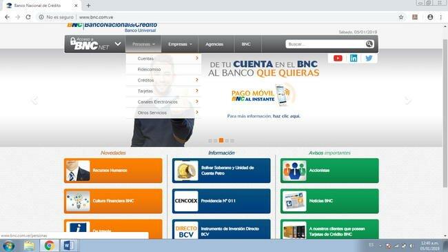Planilla de registro y apertura de cuenta BNC 1