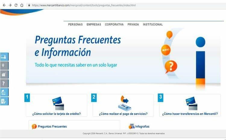 Planilla de solicitud de tarjeta de crédito Banco Mercantil