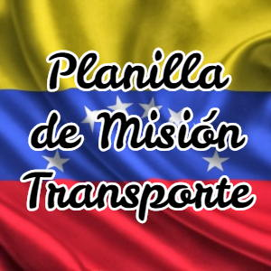 Planilla de Misión Transporte