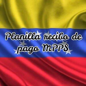 Planilla recibo de pago MPPS