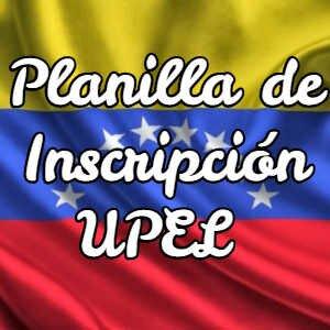 Planilla de Inscripción UPEL