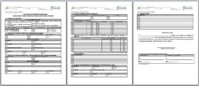 Planilla de solicitud de Permiso Sanitario (SACS) bajar