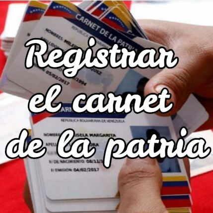 registrar carnet de la patria