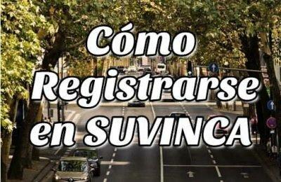 Cómo registrarse en SUVINCA